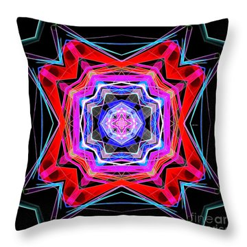 Throw Pillow featuring the digital art Mandala 3325 by Rafael Salazar
