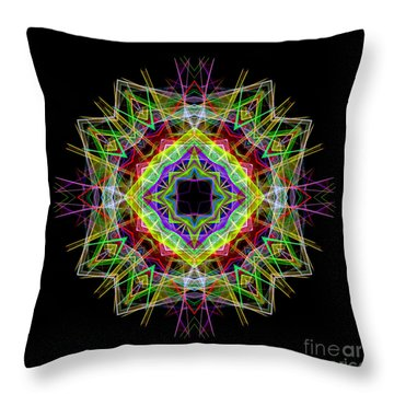 Throw Pillow featuring the digital art Mandala 3333 by Rafael Salazar