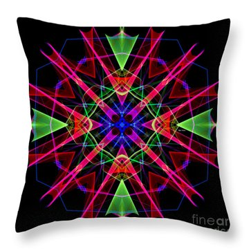 Throw Pillow featuring the digital art Mandala 3351 by Rafael Salazar