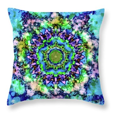 Mandala Art 1 Throw Pillow by Patricia Lintner