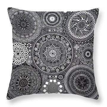 Mandala Bouquet Throw Pillow
