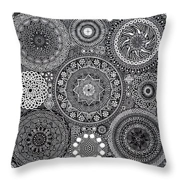 Mandala Bouquet Throw Pillow by Matthew Ridgway