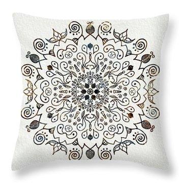 Mandala Earth And Water 2 Throw Pillow