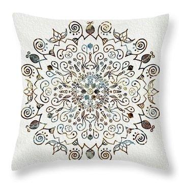 Mandala Earth And Water 4 Throw Pillow