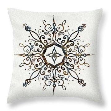 Mandala Earth And Water Throw Pillow