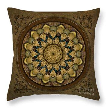 Mandala Earth Shell Throw Pillow