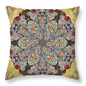 Mandala Elephants Sp Throw Pillow