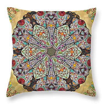 Mandala Elephants Sp Throw Pillow