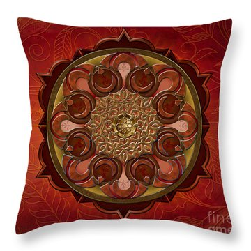 Mandala Flames Sp Throw Pillow