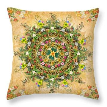 Mandala Flora Throw Pillow