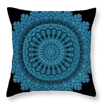 Throw Pillow featuring the digital art Mandala For The Masses by Lyle Hatch