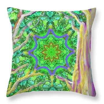 Mandala Forest Throw Pillow