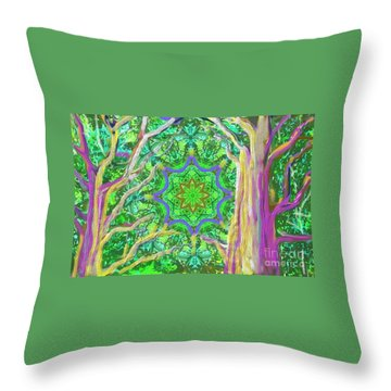 Mandala Forest Throw Pillow