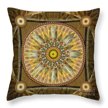 Mandala Illumination V1 Throw Pillow by Bedros Awak