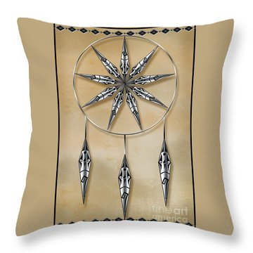 Mandala In Silver Throw Pillow