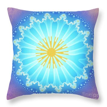 Throw Pillow featuring the digital art Mandala by Jutta Maria Pusl