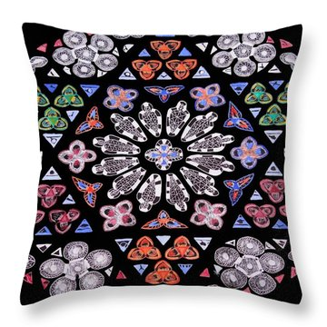 Throw Pillow featuring the painting Mandala Of Hope Phase 2 by Lisa Brandel