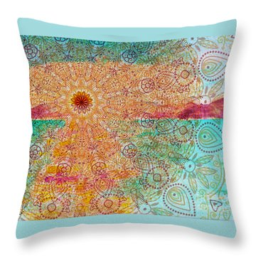Mandala Sets Over The Dunes Throw Pillow
