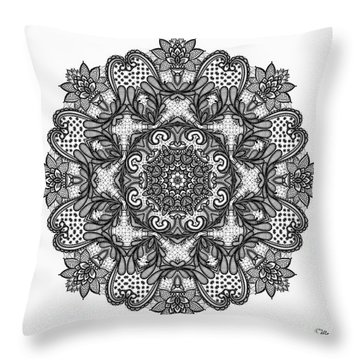 Mandala To Color 2 Throw Pillow by Mo T