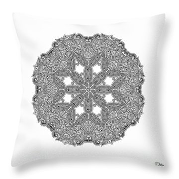 Mandala To Color Throw Pillow by Mo T