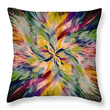 Mandala Twirl 04 Throw Pillow