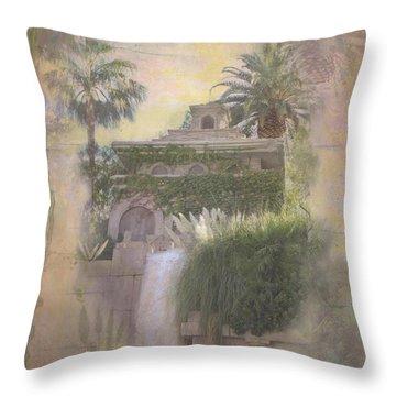 Throw Pillow featuring the digital art Mandalay Bay by Christina Lihani