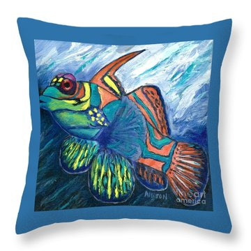 Mandarinfish Throw Pillow
