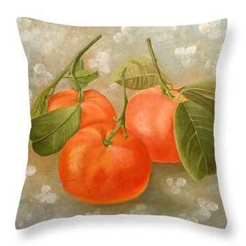 Mandarins Throw Pillow