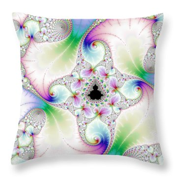 Mandebrot In Pastel Fractal Wonderland Throw Pillow