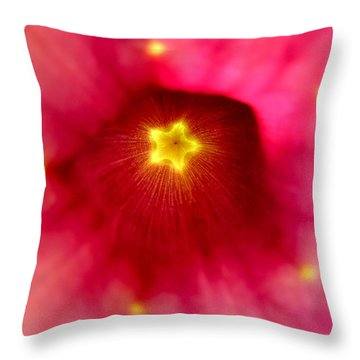 Mandevilla Star Burst Throw Pillow