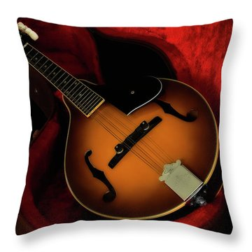 Mandolin Guitar 66661 Throw Pillow