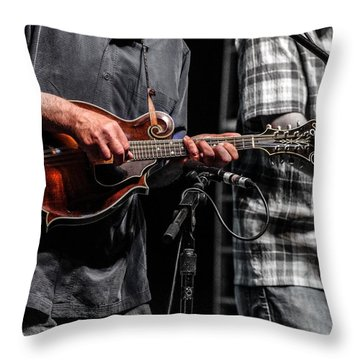 Mandolin Picker Throw Pillow