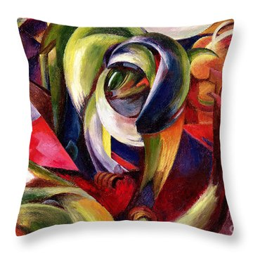 Mandrill Throw Pillow by Franz Marc