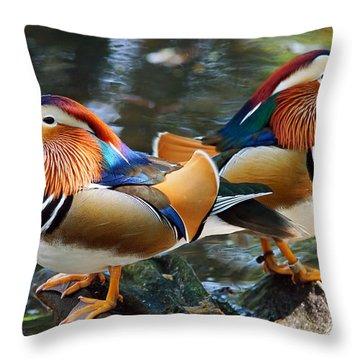 Mandarin Double Shot Throw Pillow