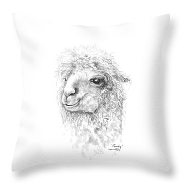 Throw Pillow featuring the drawing Mandy by K Llamas