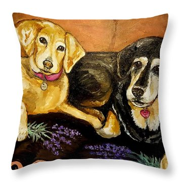 Mandys Girls Throw Pillow