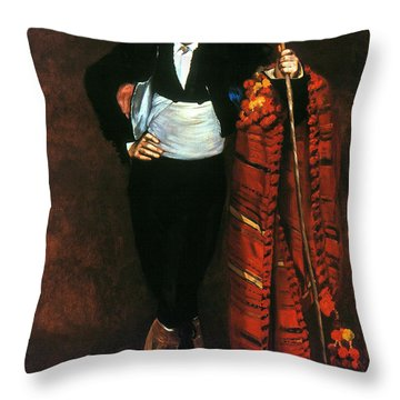 Manet: Young Man, 1863 Throw Pillow by Granger
