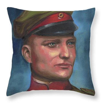 Manfred Von Richthofen The Red Baron Throw Pillow