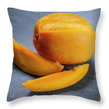 Mango And Slices Throw Pillow by Elena Elisseeva