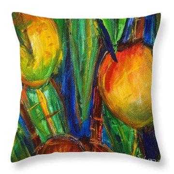Mango Tree Throw Pillow