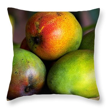 Mangos Throw Pillow by Gary Dean Mercer Clark