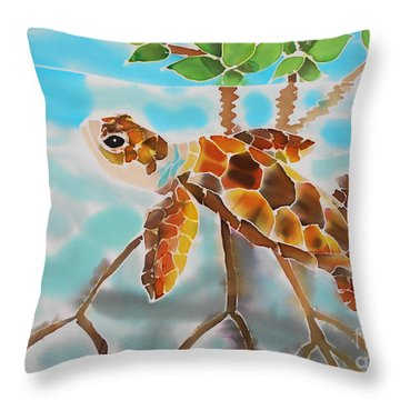 Mangrove Baby Turtle Throw Pillow