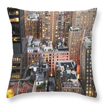 Manhattan At Dusk Throw Pillow
