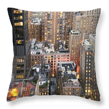 Manhattan At Dusk Throw Pillow