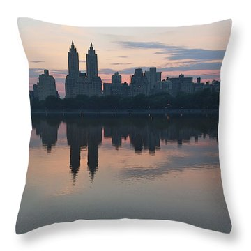 Manhattan At Night  Throw Pillow