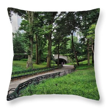 Throw Pillow featuring the photograph Manhattan - Central Park 001 by Lance Vaughn