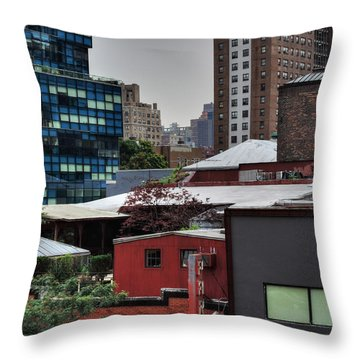 Throw Pillow featuring the photograph Manhattan - Chelsea 003 by Lance Vaughn