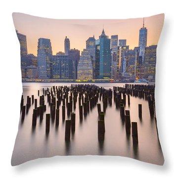 Manhattan Dusk Throw Pillow