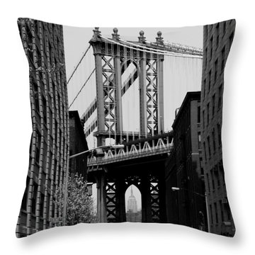 Manhattan Empire Throw Pillow