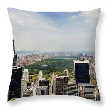 Manhattan Haze Throw Pillow by Az Jackson